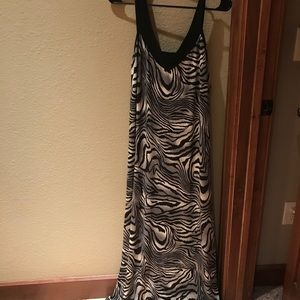 Other - Animal print dress with sequence